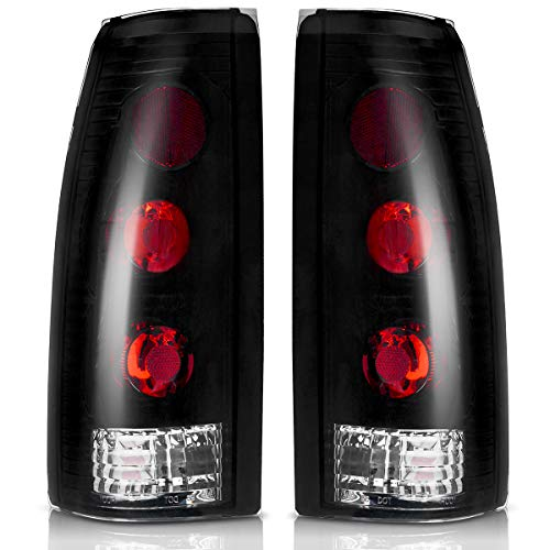 Taillights Tail Lamps for Chevy Blazer 1992-1994, Chevrolet Suburban Tahoe 1992-1999, GMC Suburban Yukon C/K Pickup 1988-2000, Cadillac Escalade 1999-2000 Smoke (FITS BARN DOOR & LIFT GATE ONLY)