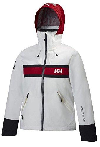 Helly Hansen Women's Salt Rain and Sailing Jacket, White, X-Small