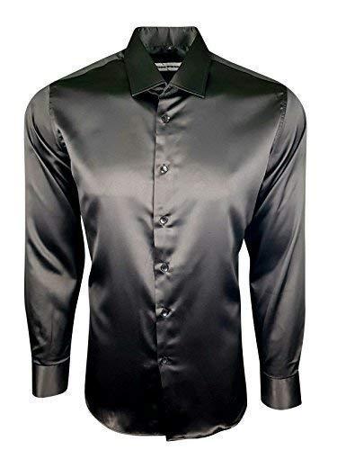 wholesale dealer 2b0b5 1d856 Dominic Stefano 422 - Camicia da Uomo in Raso e Seta Lucida, Stile Casual
