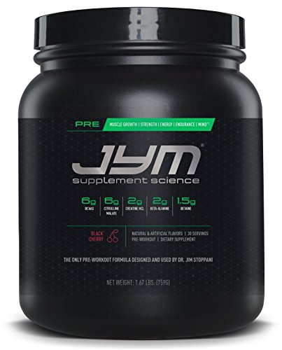 JYM Supplement Science, PRE JYM, Black Cherry, Pre-Workout with BCAA's, Creatine HCl, Citrulline Malate, Beta-alanine, Betaine, Alpha-GPC, Beet Root Extract and more, 30 Servings,27.2 Oz