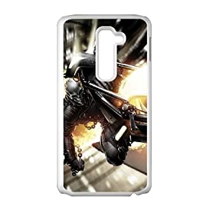 LG G2 Cell Phone Case White Ghost Rider Wall Ride SLI_729257