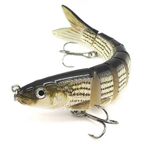 DUDOU Fishing Lures for Bass Multi Jointed Swimbaits 8 Segments Hard Lure Slow Sinking Trolling Lifelike 5.3