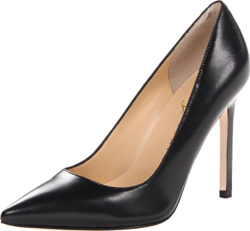 Ivanka Trump Women's Carra Pump, Black Leather, 6 B (M) US Black Leather