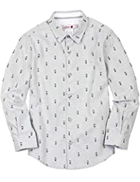 Boboli Boys Dress Shirt in Small Print, Sizes 4-16