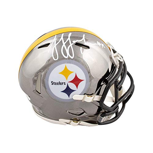 JuJu Smith-Schuster Autographed Steelers Chrome Mini Football Helmet - JSA COA ()