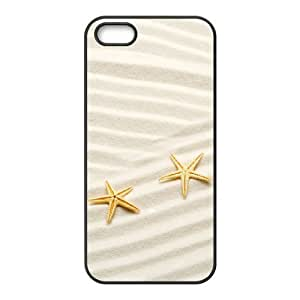 DANGDANG Beach Starfish Shell Phone for iphone5s Black Cover Phone Case [Pattern-5]