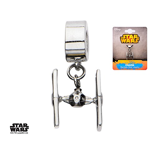 Licensed Tie - Disney Star Wars Officially Licensed Stainless Steel Tie Fighter Dangle Charm
