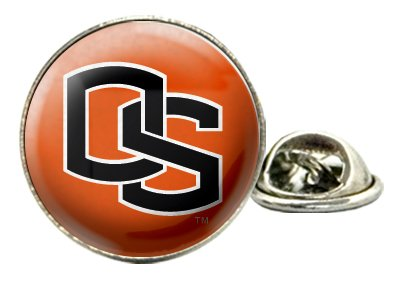 """Oregon State University """"OS"""" Tie Tack / Lapel Pin with NCAA College Sports Team Logo"""