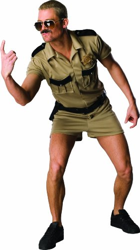 Reno 911 Dangle Costume, Brown, - Cop Costume Male