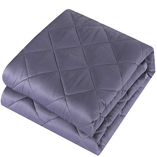 Cheap easyum Weighted Blanket Pro for Adult(15 lbs 60 x80 Queen Size) Heavy Blanket 100% Cotton Material with Glass Beads Black Friday & Cyber Monday 2019