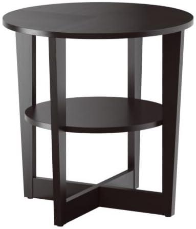 Ikea VEJMON – Mesa Auxiliar, Color Negro y marrón 60 cm: Amazon.es ...