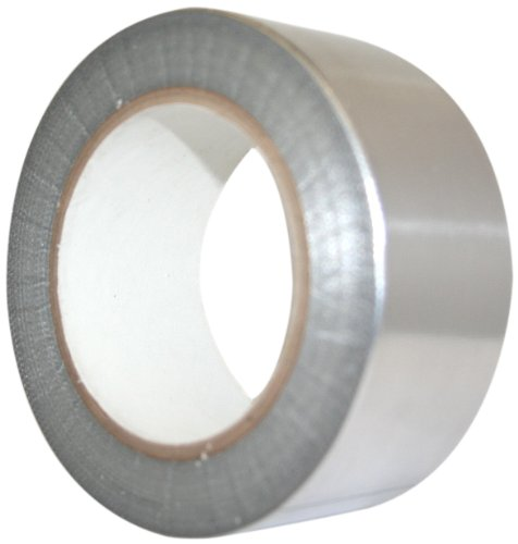 Maxi 1956ALG Aluminum Foil Heavy Duty HVOF Tape with Silicone Adhesive, 6.6 mil Thick, 36 yds Length, 3'' Width, Silver