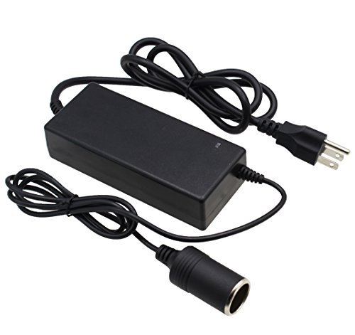 AC DC Converter by LotFancy, 100V - 240V AC to 12V 8A DC Adapter Charger, Switching Power Supply with Car Cigarette Lighter Socket, UL Listed