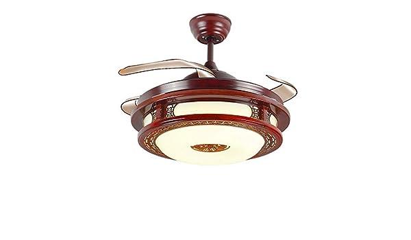 ZSLLO Lámpara de techo de viento chino con aspas de ventilador ...