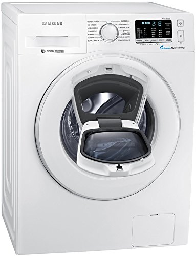 Samsung WW80K5400WW/EG Waschmaschine FL / A+++ / 116 kWh / Jahr / 1400 UpM / 8 kg / Add Wash / Smart Check / Digital Inverter Motor / weiß