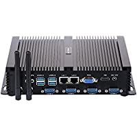 Industrial PC Mini PC I5 3317U 4 COM 2 Intel Nics 8G RAM 128G SSD IM02 by HUNSN