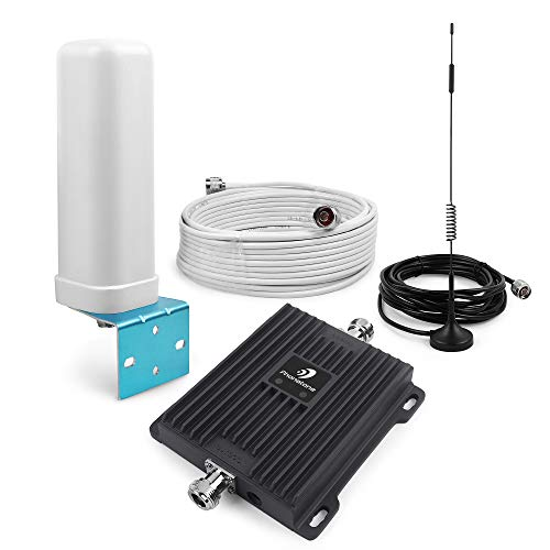 Cell Phone Signal Booster for Home and Office Use - Dual Band 850/1900Mhz GSM 3G Repeater Antennas - Boost Voice and ()