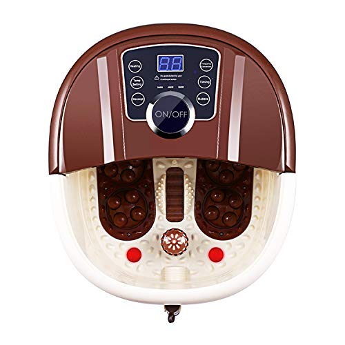 ACEVIVI Foot Spa Bath Motorized Massager with Heat, Frequency Conversion, Red Light Rolling Massage, Adjustable Time & Temperature, Water Spray Bubble
