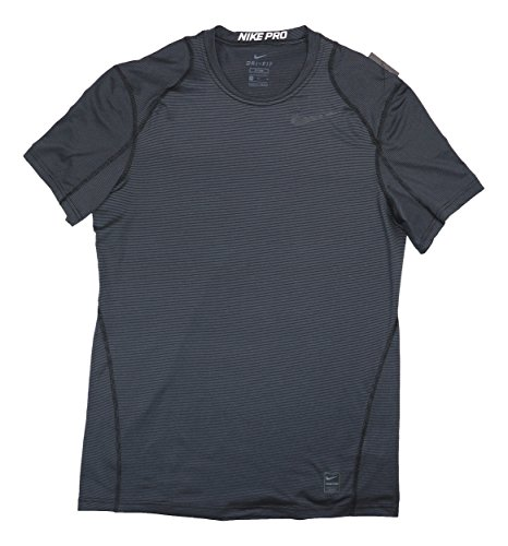 Nike Men's Pro Dry Dri Fit Fitted Athletic Charcoal Gray T Shirt Size Large (828549-101) ()