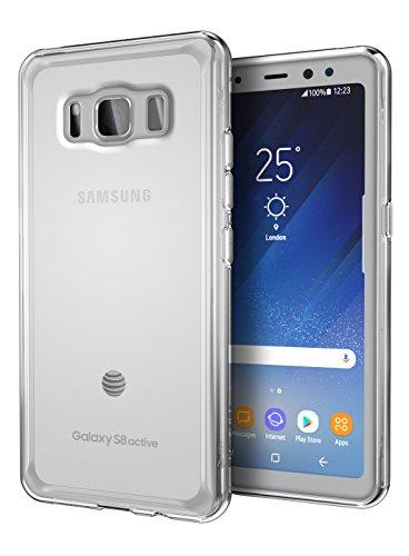 Galaxy S8 Active Case, Cimo [Grip] Premium Slim Protective Cover for Samsung Galaxy S8 Active - Clear