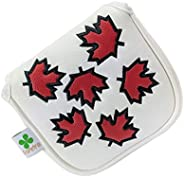 Foretra – Canada Maple Leaf - Golf Putter Headcover Quality PU Leather Magnetic Closure for Square Mallet Styl