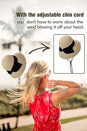Womens Summer Sun Beach Straw Hats Upf Protective Panama