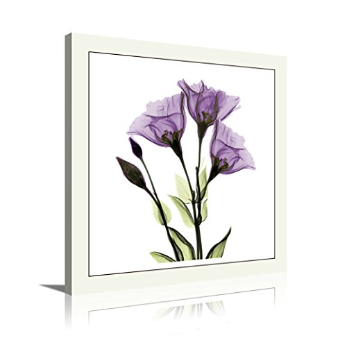 HLJ Arts Single Panel Crystal Theme Giclee Flickering Blue Flowers Printed Paintings on Canvas for Wall Decor Small Wal Art (Decor Flower Crystal Wall)