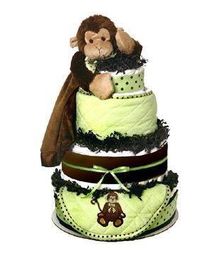 Amazoncom Monkey Diaper Cake Baby Gift Soft Snuggler Burp