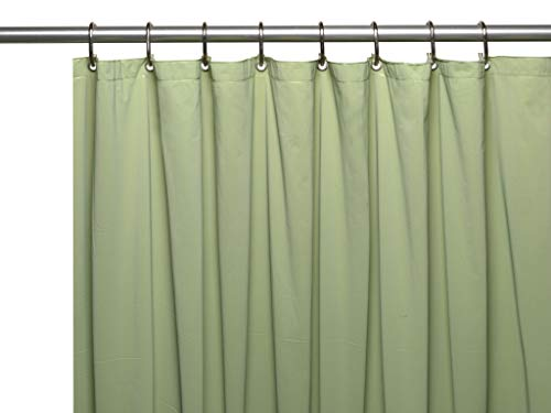(Hotel Collection Heavy Duty Mold & Mildew Resistant Premium PEVA Shower Curtain Liner with Rust Proof Metal Grommets - Assorted Colors)