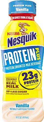 Nestle Nesquik Protein Plus Milk, 2 Flavor Variety Pack, 14 oz Plastic Bottles (Pack of 12) by Nesquik (Image #2)