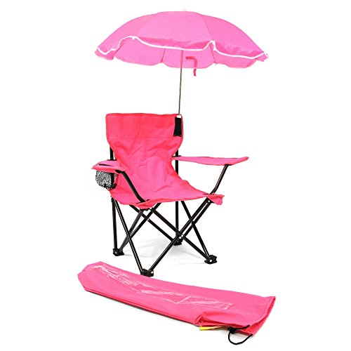 Cute & Lovely Girls Camp Chair with Umbrella in Pink (Suitable for children 2-4 years) by Redmon Kids'