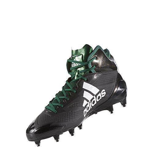 Adidas Adizero 5star 6.0 Mid Cleat Mens Nucleo Di Calcio Nero-bianco-verde Scuro