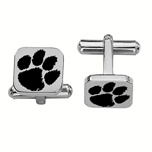 College Jewelry Clemson Tigers Stainless Steel Square Cufflinks by College Jewelry