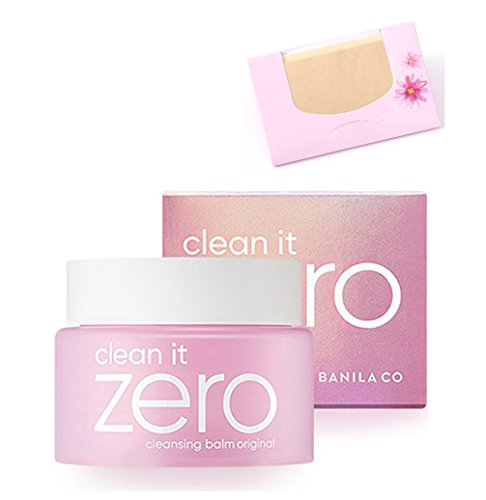 Banila Co Clean it Zero Cleansing Balm 100ml Original SoltreeBundle Natural Hemp Paper 50pcs