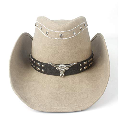 Hats Lady Cowboy Hat Prosperous Leather Felt Western Cow Head Decoration Cowboy Superficial Hat