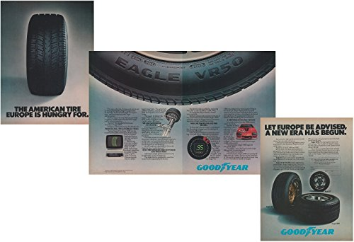 *PRINT AD* 1984 GOODYEAR EAGLE TIRES with CHEVROLET CAMARO