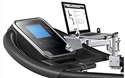 Treadmill Desk Workstation Accessory with Universal Attachment Clamp use Laptop iPad Tablet Book while Walking Working or Running
