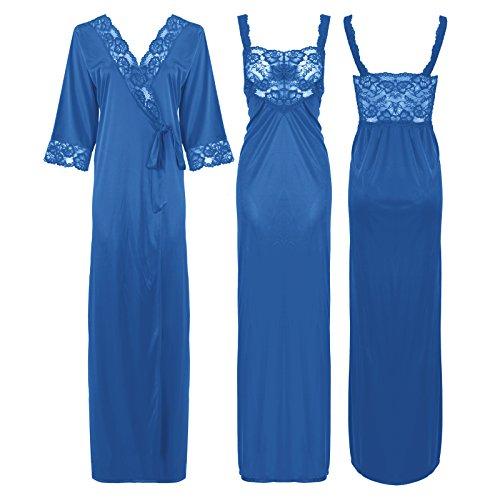 The Orange Tags - Camisón - para mujer negro azul claro L