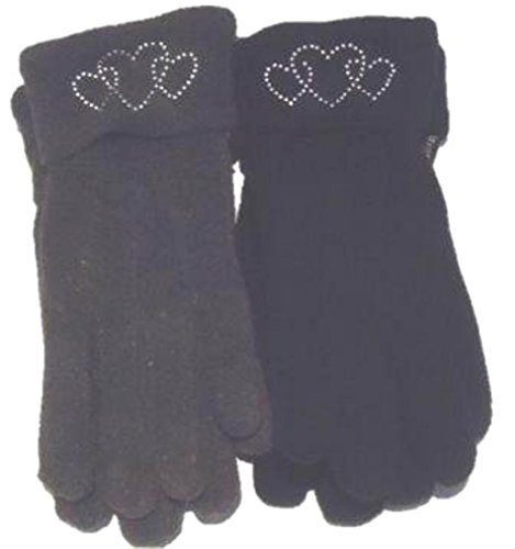 set-of-two-pairs-fleece-warm-gloves-with-rhinestone-heart-cuff-for-women