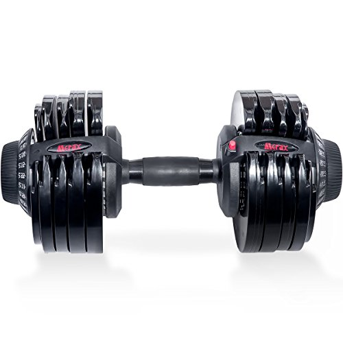 Merax Deluxe 71.5 Pounds Adjustable Dial Dumbbell Single