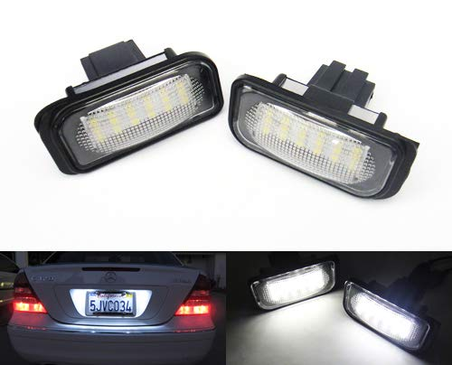 2x LED Licence Number Plate Light White Canbus For MB W203 C-Class Saloon C209 CLK R230 SL Crossfire