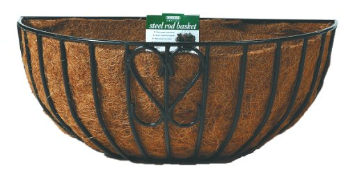 Bosmere F905 24-Inch Wall Basket with Coco Liner