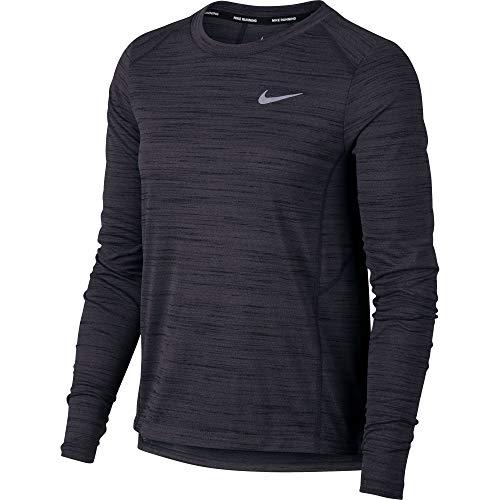Nike Women's Miler Long Sleeve Running Top Black/Heather Size Large (Nike Miler Long Sleeve)