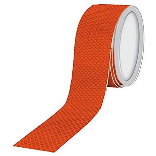 DOBO® Nastro catarifrangente adesivo per segnalazione camion auto riflettente rifrangente riflette la luce diretta ottimo sicurezza stradale e segnalazione cancelli e bordi rigidi colore selezionabile - 25 metri (Rosso)