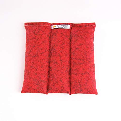The Original Corn-Bags Microwavable Heating Pad for Pain Relief from Arthritis Pain, Headaches, Menstrual Cramps, Warming Up Red9x9