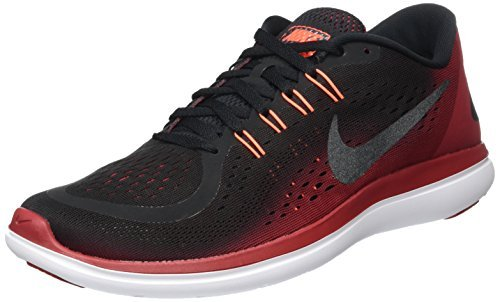 NIKE MENS NIKE FLEX 2017 RN BLACK MTLC HEMANITE TOUGH RED SIZE 6 by Nike (Image #4)