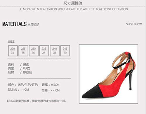 Simple Head Shoes Heeled Buckle 10Cm Thin Single gules Out Sharp High And SFSYDDY Summer Coloring Women'S Hollowed Sexy Shoes zqtPxR