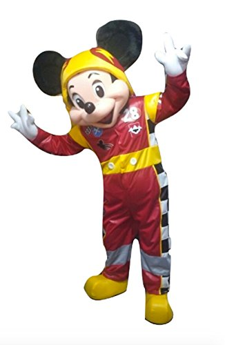 Adult Costume Mascot Mouse (Mickey and The Roadster Racers Mascot Costume Mouse Party Character Halloween)