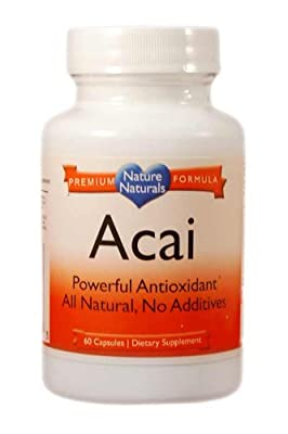 Nature Naturals Acai, pure natural Weight Loss and fat burning - Super High Potency - Fast Absorbing
