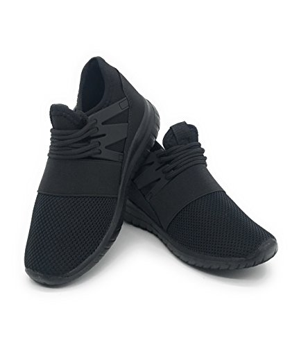 EASY21 Lightweight Toddle's Sneakers Kid's Cute Casual Sport Shoes Easy-99F,All Black,1